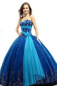 Applique Dress Bridal Wedding Evening Ball Gown Prom Dress 2012