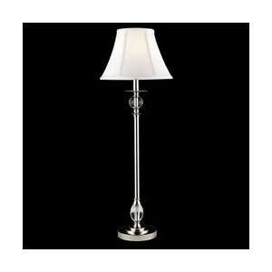 Dale Tiffany GB10197 Crystal Buffet Lamp, Polished Chrome