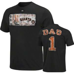 San Francisco Giants Black Fathers Day #1 Dad T Shirt