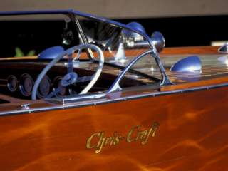 Chris Craft Classic Wooden Powerboat, Seattle Maritime Museum, Lake