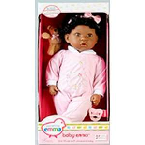 : 18 African American Baby Emma Doll with Accessories: Toys & Games