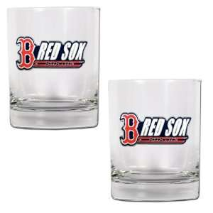 Boson Red Sox 2pc Rocks Glass Se Spors & Oudoors