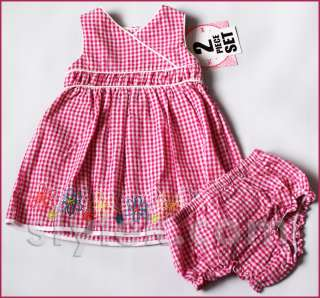 NWT Baby Girls Summer Dress set Carters Chaps Party Wedding Outfit 3 6