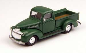 1941 46 CHEVY PICKUP~GREEN~1:87th/HO SCALE DIE CAST