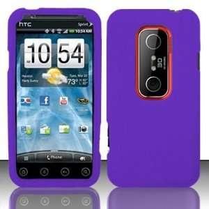 For HTC Evo 3D (Sprint) PREMIUM Silicon Skin Case   Purple