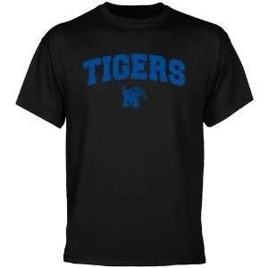 Memphis Tigers T Shirt  Memphis Tigers Black Mascot Arch