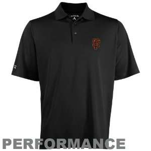 Antigua San Francisco Giants Black Exceed Polo Sports