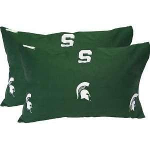 Michigan State Spartans Printed Pillow Case   King   (Set