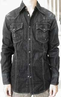 NWT True religion mens Rocky black western Shirt