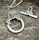 30 Sets Tibetan Silver Bali Toggle Beads Clasps TS836
