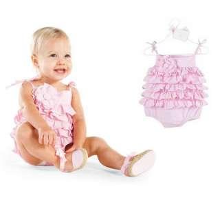 Baby girls toddlers Summer SEERSUCKER RUFFLE BUBBLE sleeveless skirt