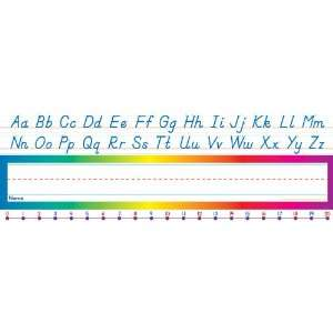 Scholastic Alphabet Number Line (Modern) Name Plates