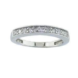 0.38 CT Diamond Wedding Band 10K White Gold FineDiamonds9