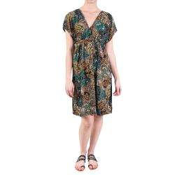 Journee Collection Womens Short sleeve Knee Length Kimono Dress