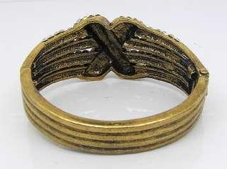 Gold plated crystal Bracelet Bangle Cuff B286