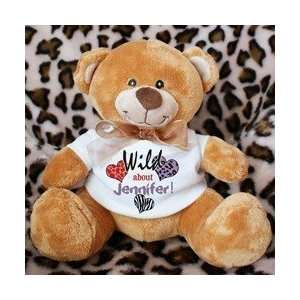 Personalized Wild About Valentines Day Teddy Bear Toys & Games