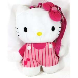 Hello Kitty Stripes Plush Backpack + Free Tote Bag Toys & Games