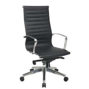 OSP Furniture High Back Black Eco Leather Chair with