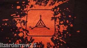 TAD Gear Blood Splatter Logo T Shirt Large BLACK