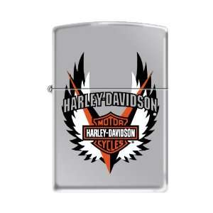 Zippo Harley Davidson Logo & Wings High Polish Chrome Lighter
