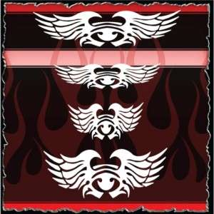 Wings 3 airbrush stencil template harley paint