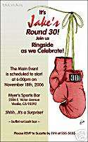 Personalized Boxing Boxer Birthday Party Invitations