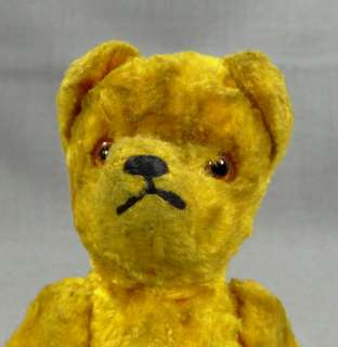 HERMANN STRAW STUFFED BLONDE PLUSH TEDDY BEAR JOINTED TOY