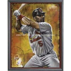 MLB   Albert Pujols Print St. Louis Cardinals The Warrior Wall Framed
