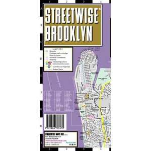 Streetwise Brooklyn Map   Laminated City Street Map of Brooklyn, New