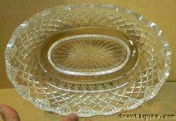 ELEGANT WATERFORD IRISH CUT CRYSTAL LARGE OVAL SERVING BOWL DIAMOND