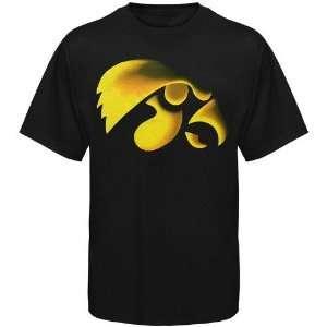 Iowa Hawkeyes Black Blackout T shirt