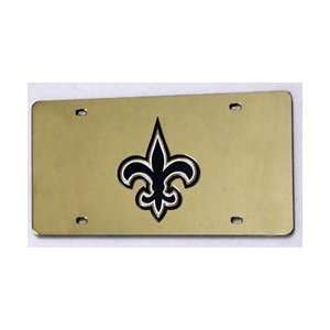NEW ORLEANS SAINTS (GOLD) LASER CUT AUTO TAG Sports & Outdoors