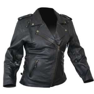 Ladies Classic Cowhide Motorcycle Leather Jacket with Level 3 Advanced