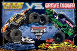 Monster Jam   Grave Digger / Maximum Destruction Posters at AllPosters