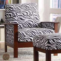 Hills Black/ White Zebra Print Chair