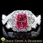 Gold 1.72ctw Fancy Pink Cushion Cut Natural Diamond Engagement Ring