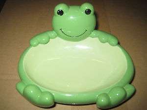 POTTERY BARN FROG SOAP DISH   FROG BATHROOM ACCESSORIES