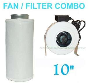 10 INLINE Duct Fan COMBO inch scrubber Carbon Filter