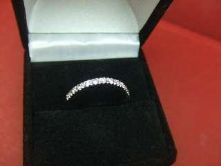 Diamond Wedding Band 14k White Gold Ring SIZE 7.75