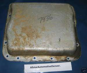 GM 700R4 4L60 TRANSMISSION OIL PAN, GOOD USED #7436