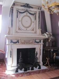 HAND CARVED BEAUTIFUL MARBLE FIREPLACE MANTEL FO006