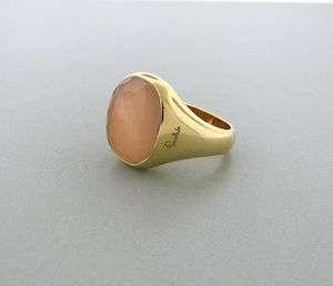 ESTATE POMELLATO CIPRIA 18K GOLD ROSE QUARTZ RING