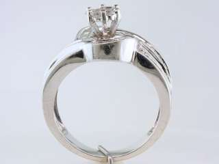 Diamond .75ct White Gold Engagement Wedding Cocktail Ring Jewelry