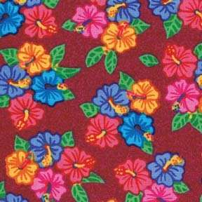 Summer Fun Red Hibiscus Quilt Fabric 284D FQ