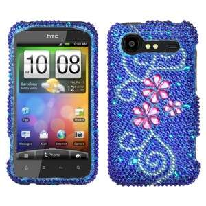 Flower Crystal Bling Hard Case Phone Cover HTC Droid Incredible 2
