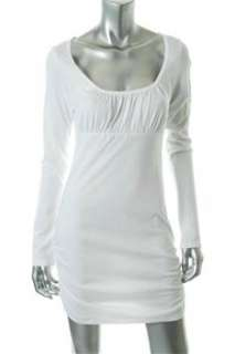 FAMOUS CATALOG Moda White Casual Dress BHFO Ruched M |