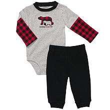 Bodysuit Set   Grey/Red Plaid (3 Months)   Carters   Babies R Us