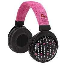Foldable Plush Headphones   Pink   Sakar International