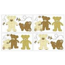 Eddie Bauer Teddy Bear Wall Decals (4 Pack)   NoJo   Babies R Us