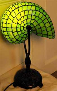 Description Beautiful Nautilus Shell Table Lamp. Handmade with